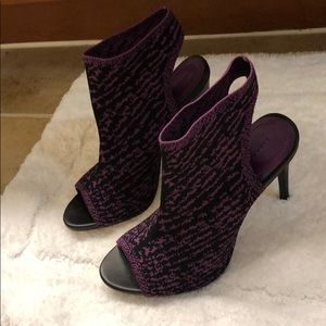 Zara Knit Peep Toe Heels